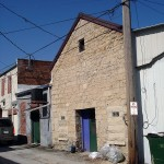 Commercial Building, alley view, 129 N. Main Street, Elkader, IA., Boardman Township