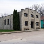 Auditorium, 110 S Main St./Fawn Hollow Rd., St. Olaf, Wagner Township
