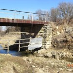 Bridge abutements, Empire Rd. Boardman Township
