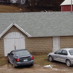 Milkhouse, cinder block imitation stone, Boardman Township