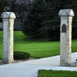 Pillars in front of St. Joseph's Catholic Church, 330 1st St. S.W., Elkader, IA., Boardman Township