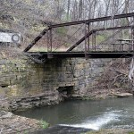Abutments, Holstein Dip Bridge, Old Volga Rd, Boardman Township