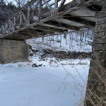 Bridge Abutments, Elk Township, Iowa Ave. 1.2 mi. south of Colesburg Rd., (X3C), Elk Township.