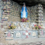 Close up of Madonna, Immaculate Conception Grotto, Main Street, 1 block east of Snake, North Buena Vista, Buena Vista Township