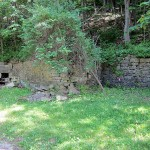 Fireplace and Retaining Wall, East end of C. St., South side of road, McGregor, IA, Mendon Township