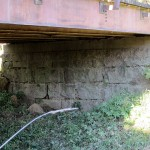 Bridge Abutment, Lower Cedar Road, 1/8 mile SW of Kestrell Ave, Jefferson Township
