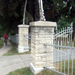 Pillars, St. Joseph's Catholic cemetery entrance, Hwy 56, Elkader, IA., Boardman Township