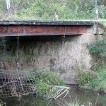 Bridge Abutment, 290th St. 1.6 mi west of Kale Ave., Jefferson Township