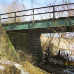 Bridge Abutment, Granite Ave. 0.6 mi. south of 188th St. Farmersburg Township