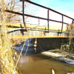 Bridge Abutment, Gilder Rd. 0.4 mi. east of Golden Av. Farmersburg Township